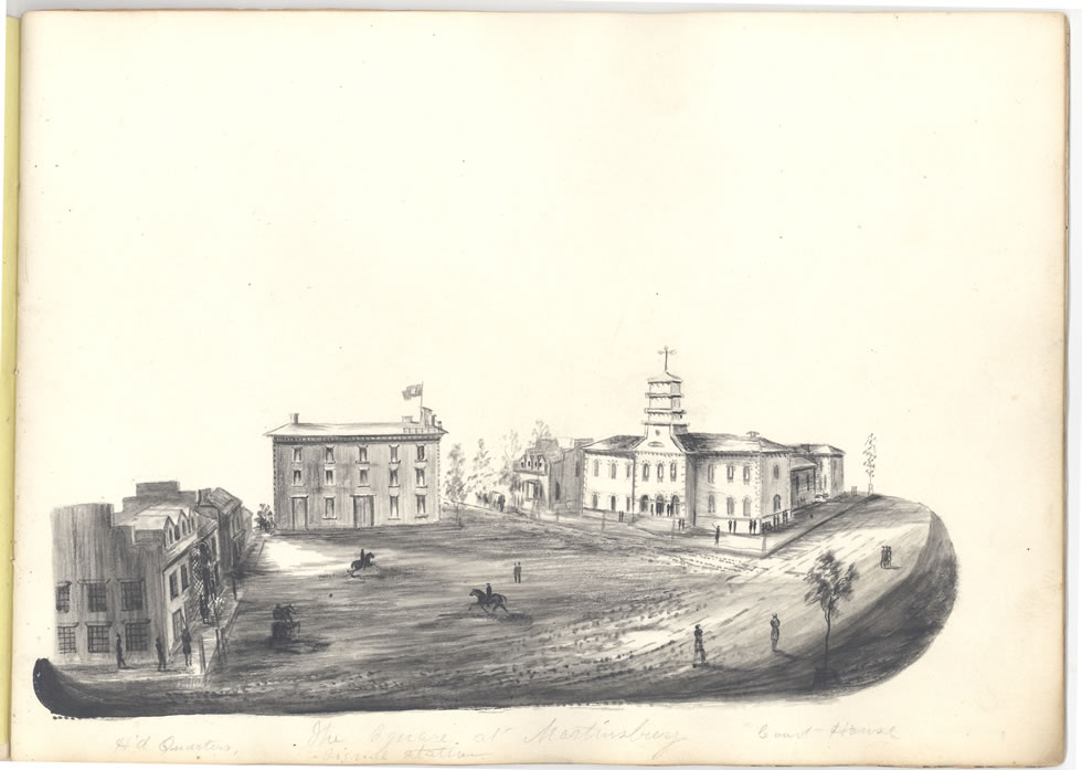 CivilWarSketchBk The Square At Martinsburg