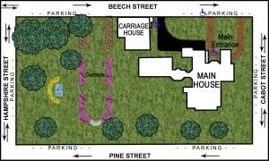 Map of Wistariahurst Museum Grounds