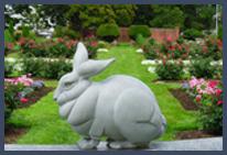 Lee Hutt Bunny Sculpture In Garden