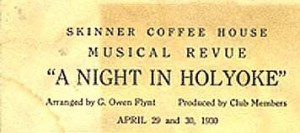 Musical Review at the Skinner Coffee House