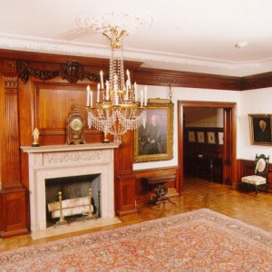 The Great Hall of Wistariahurst, home of William Skinner and his Family