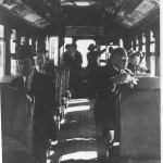 Inside of railcar, 1930s. Courtesy of the Holyoke History Room & Archives