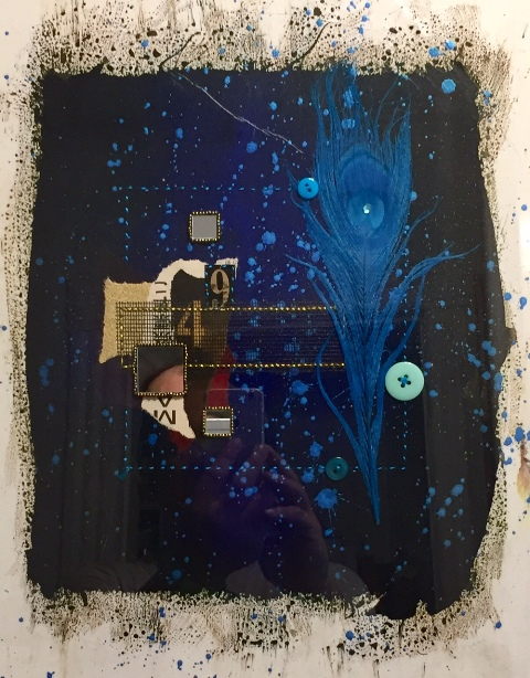 Blue Pulse-Daddy's Mix: Creation By Steven Huerta $150.00