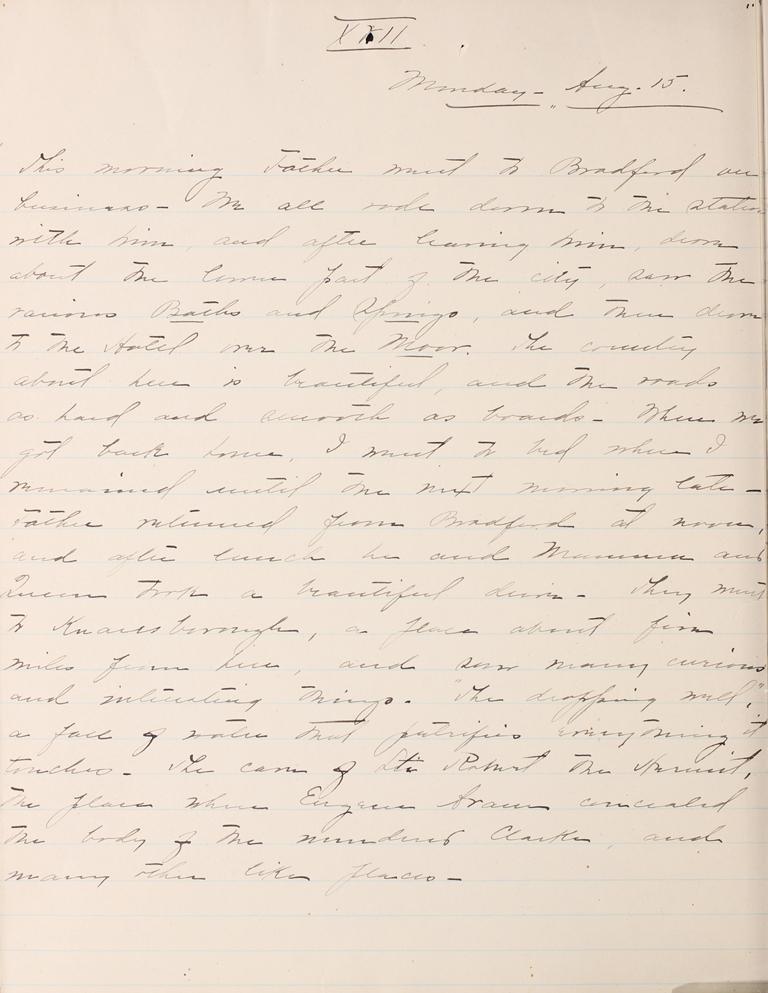 Belle Skinner 1887 Journal 08-15-1887 XVII