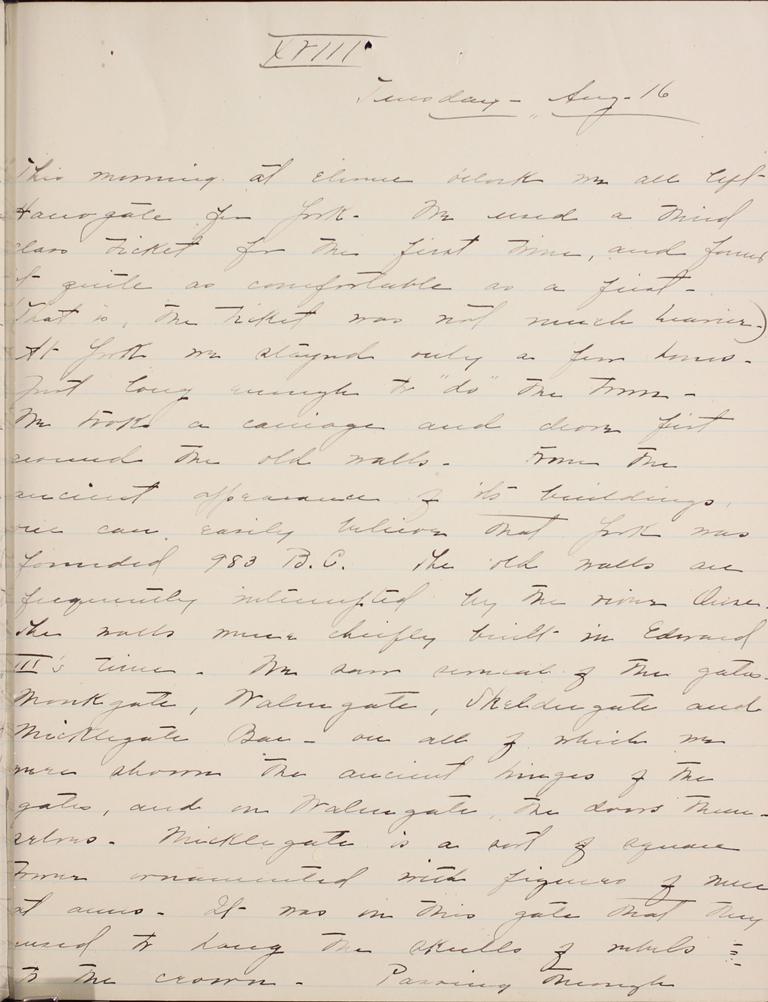 Belle Skinner 1887 Journal 08-16-1887a XVIII