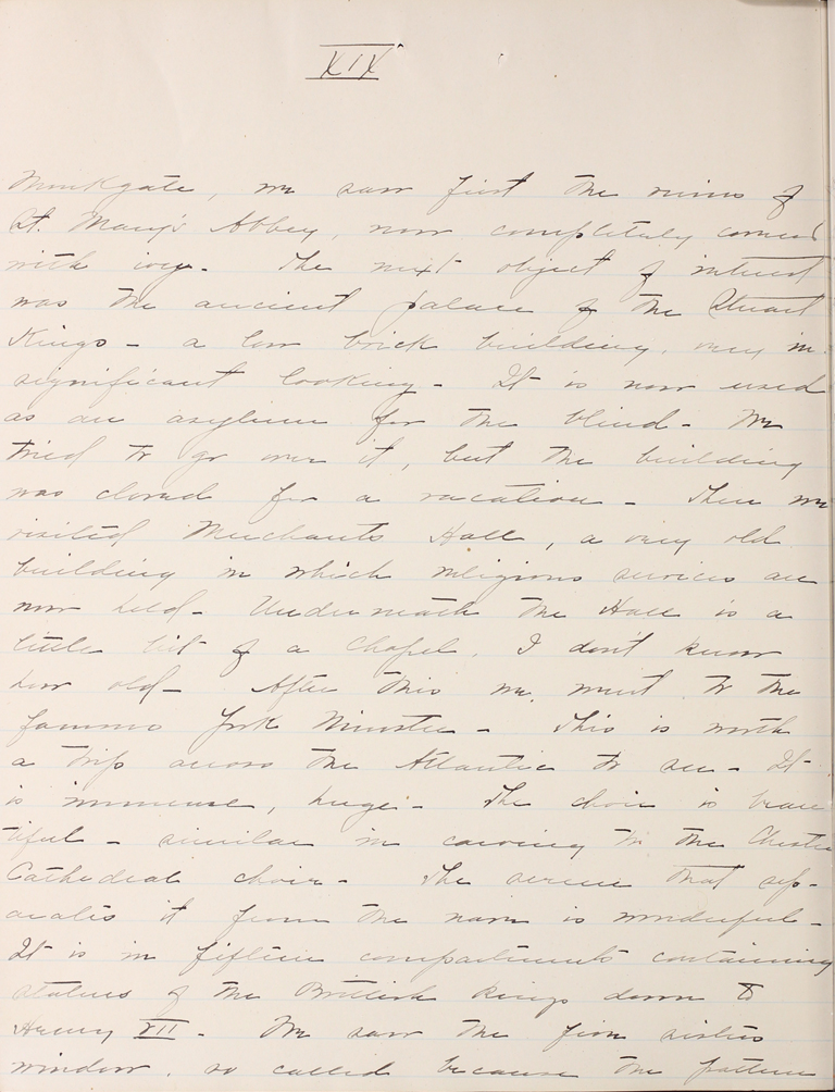 Belle Skinner 1887 Journal 08-16-1887b XVIX