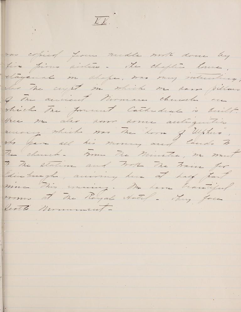 Belle Skinner 1887 Journal 08-16-1887c XX