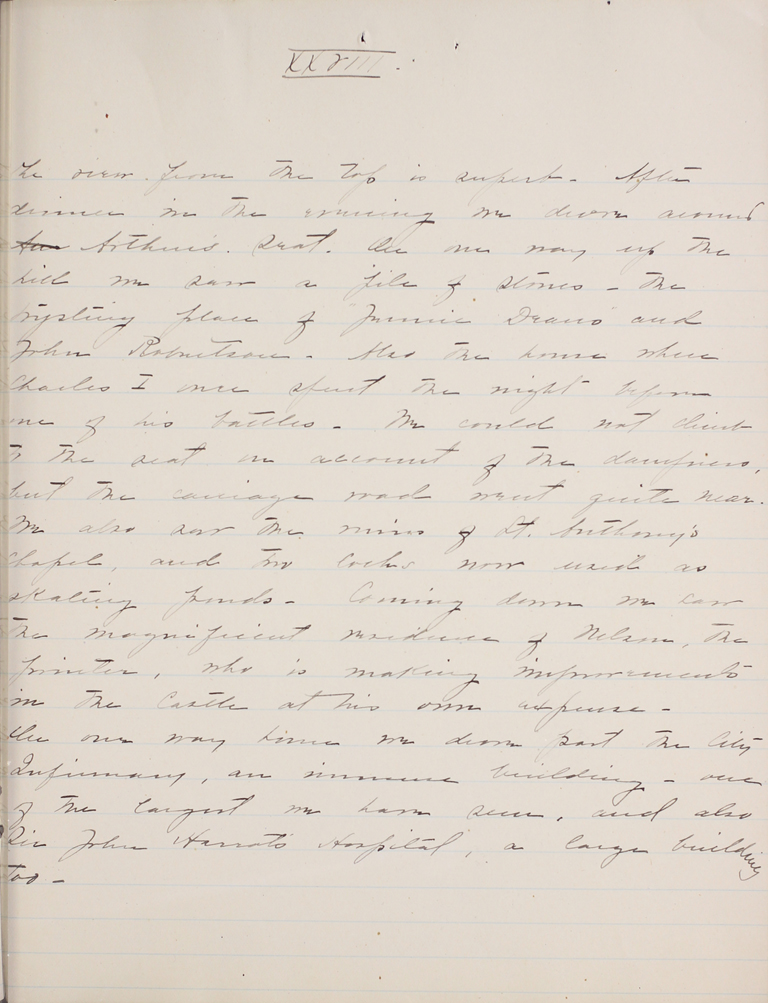Belle Skinner 1887 Journal 08-18-1887 XXVIII