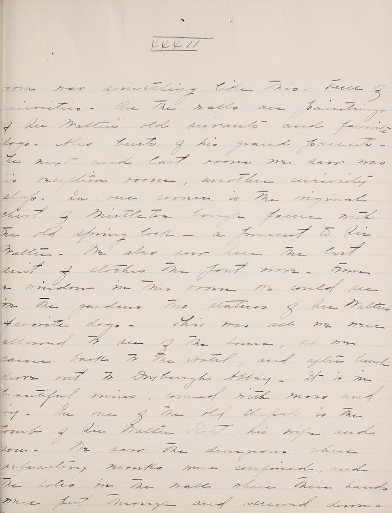 Belle Skinner 1887 Journal 08-20-1887 XXXII