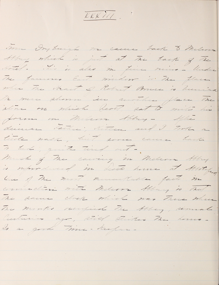 Belle Skinner 1887 Journal 08-20-1887 XXXIII