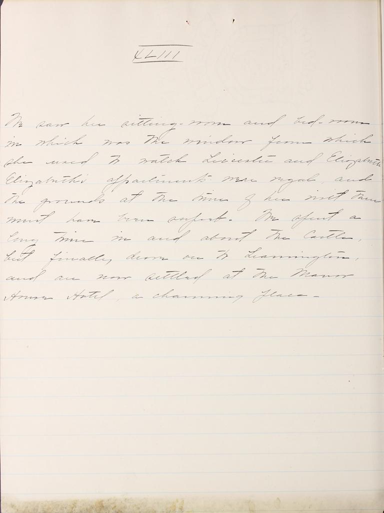 Belle Skinner 1887 Journal 08-25-1887 XLIII