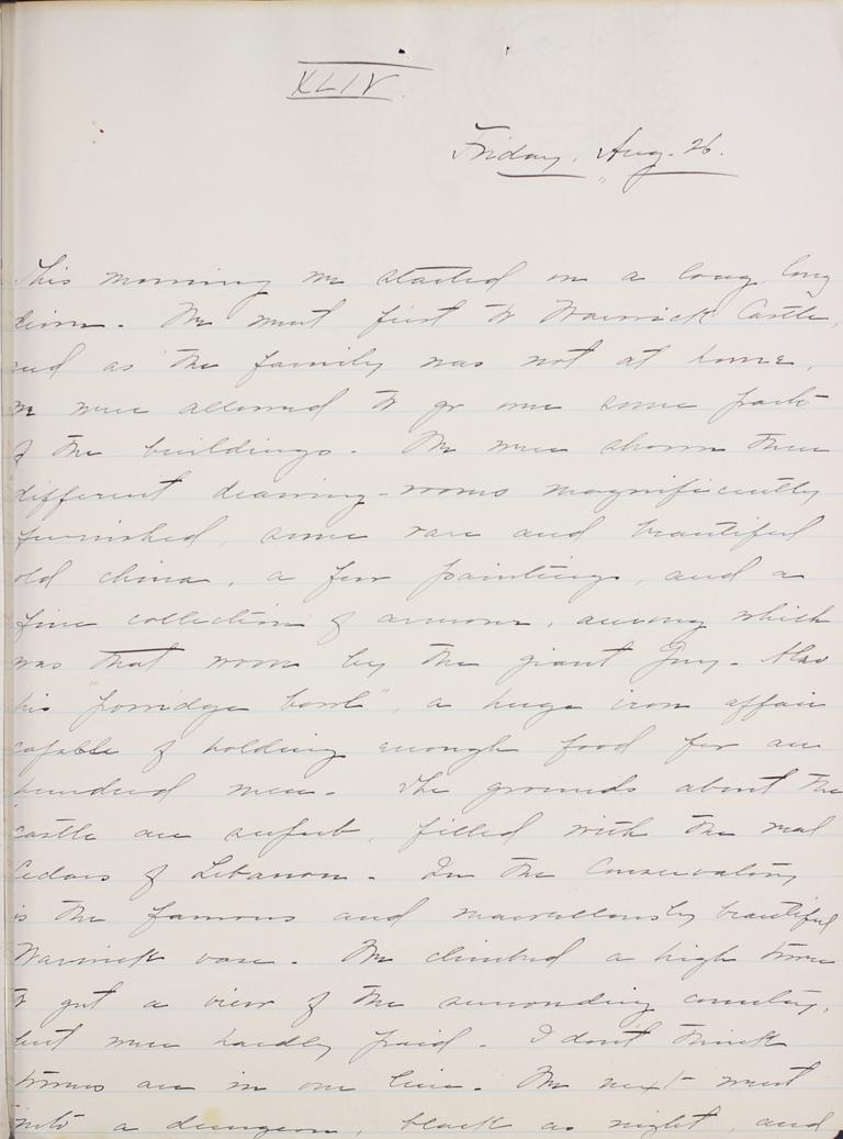 Belle Skinner 1887 Journal 08-26-1887 XLIV