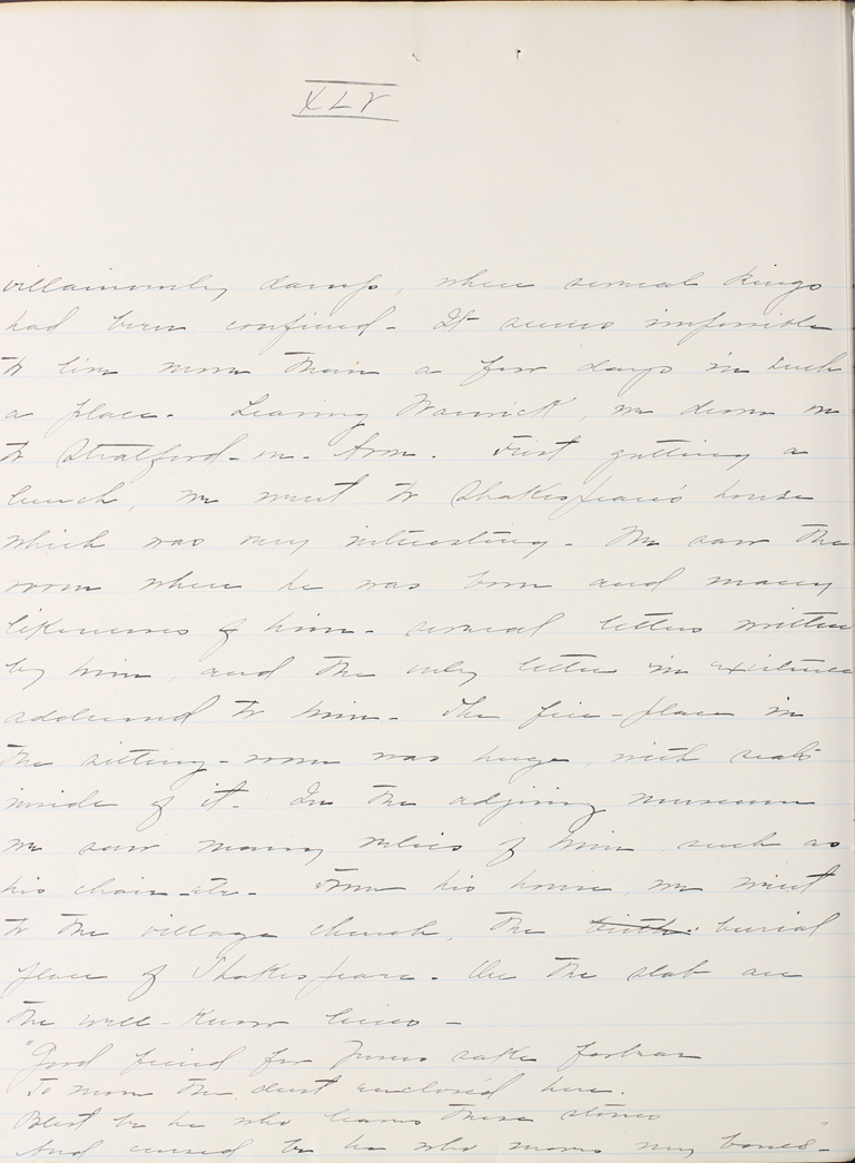 Belle Skinner 1887 Journal 08-26-1887 XLV