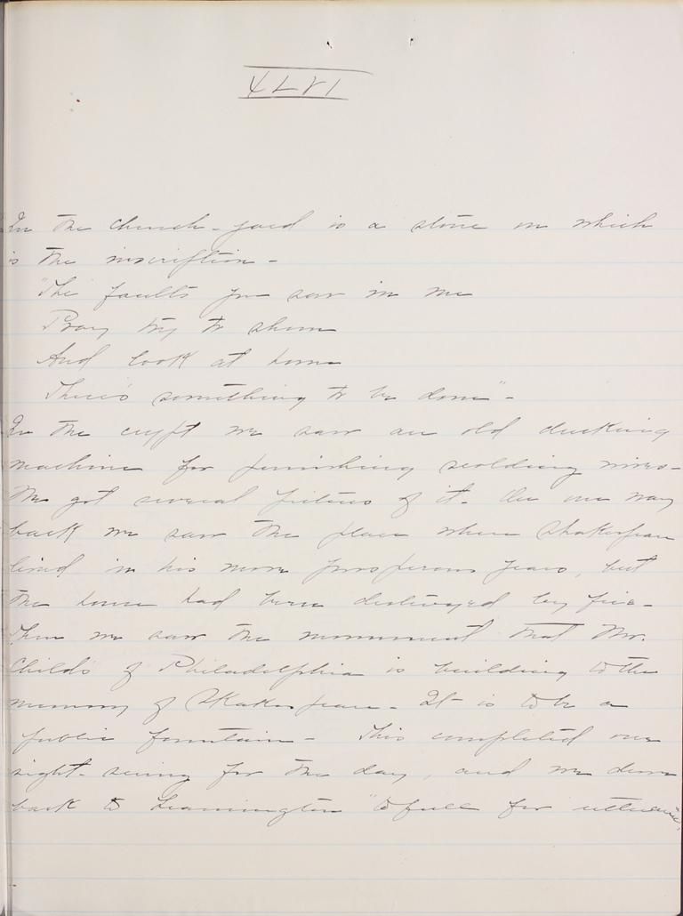 Belle Skinner 1887 Journal 08-26-1887 XLVI