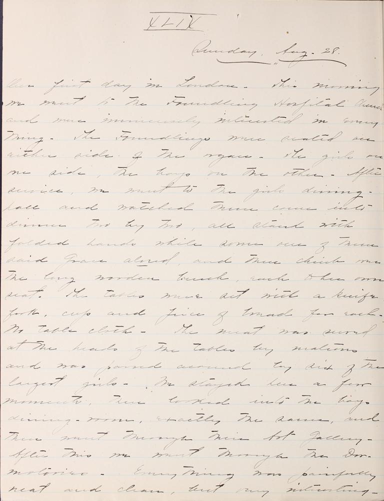 Belle Skinner 1887 Journal 08-28-1887a XLIX