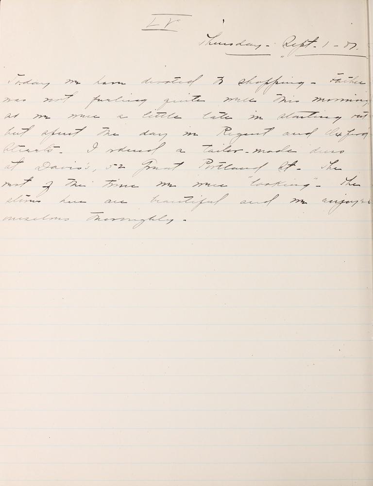Belle Skinner 1887 Journal 09-01-1887 LV