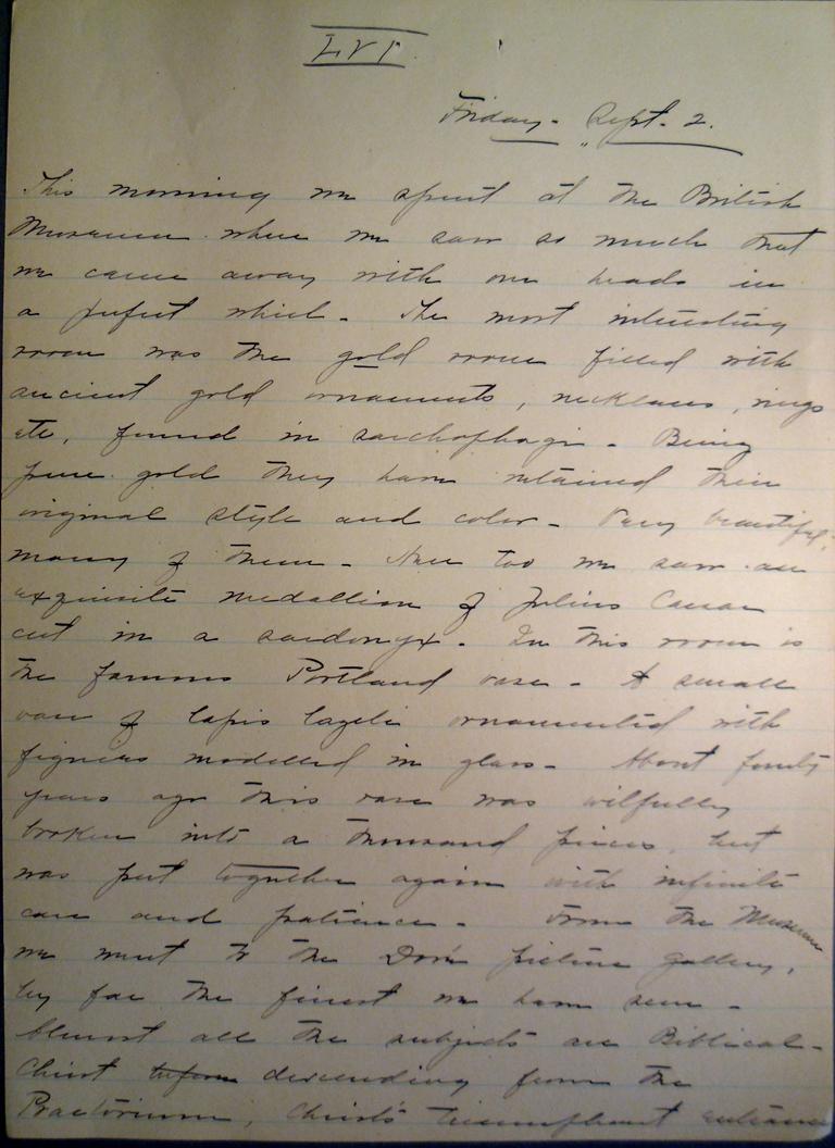 Belle Skinner 1887 Journal 09-02-1887a LVI