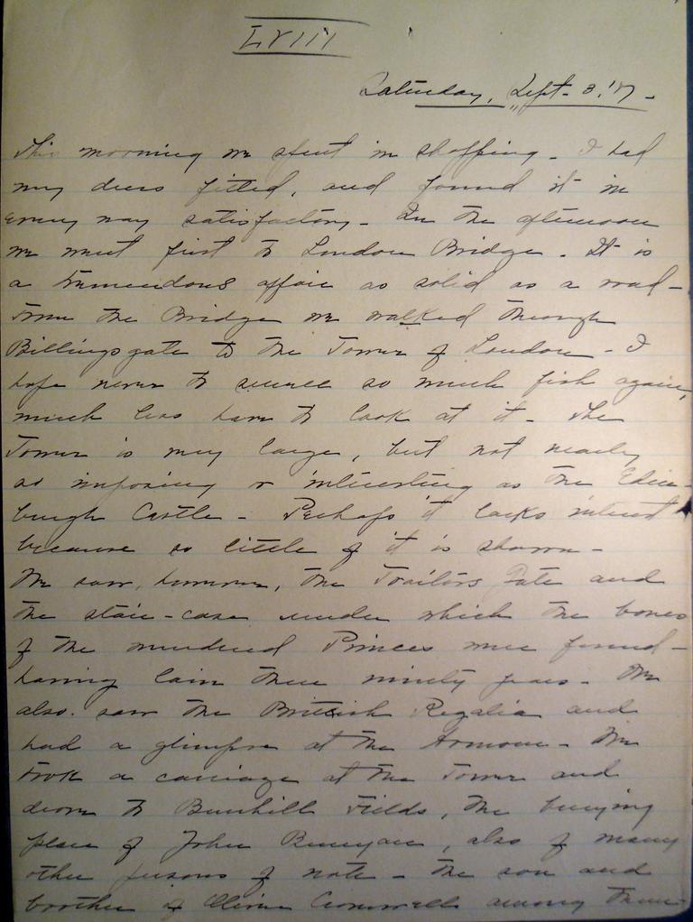 Belle Skinner 1887 Journal 09-03-1887a LVIII