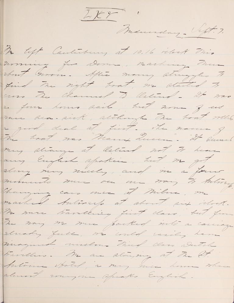 Belle Skinner 1887 Journal 09-07-1887 LXV