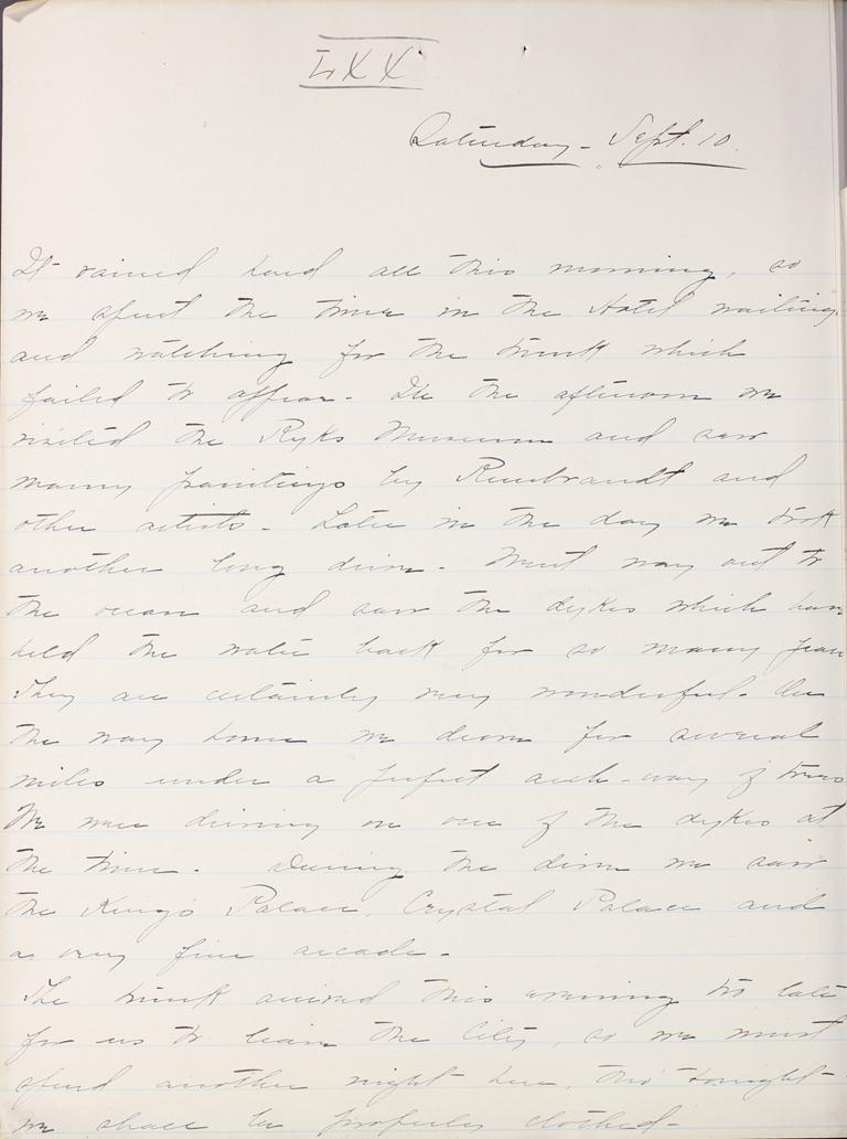 Belle Skinner 1887 Journal 09-10-1887 LXX