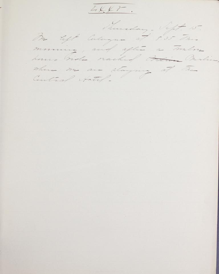 Belle Skinner 1887 Journal 09-15-1887 LXXV