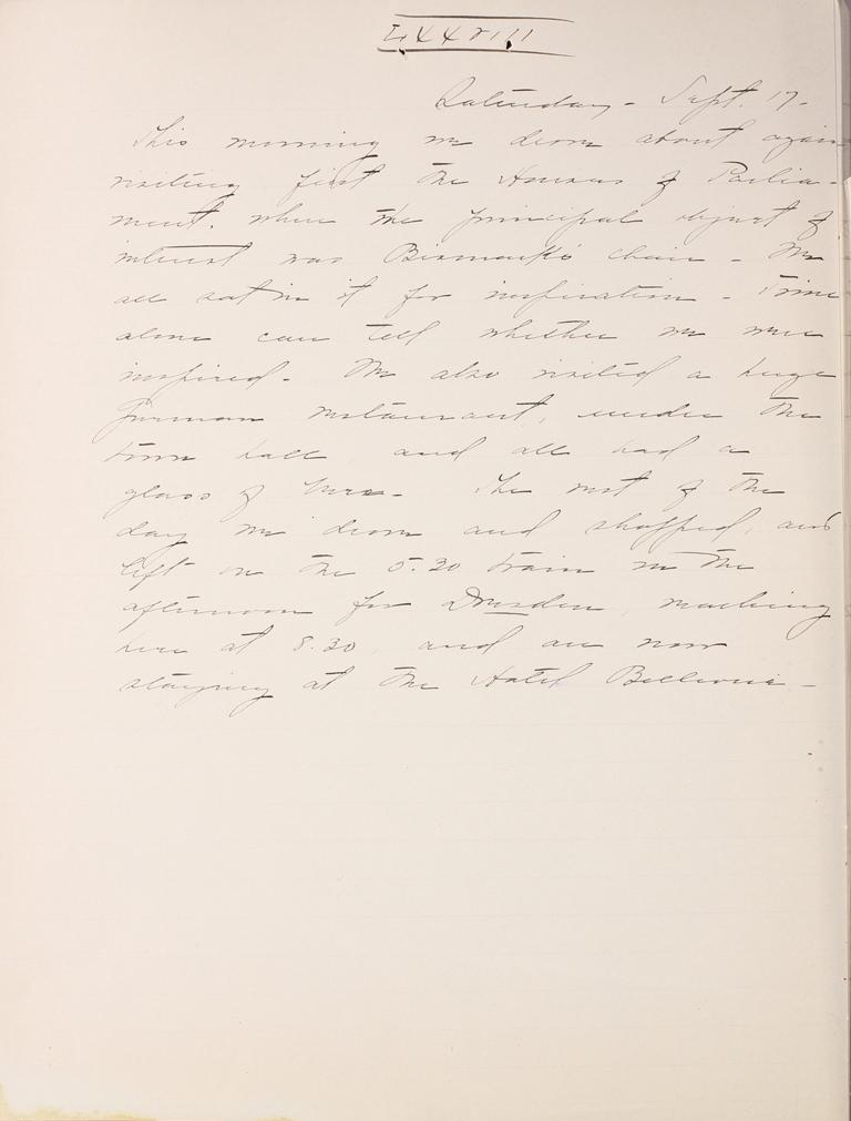 Belle Skinner 1887 Journal 09-17-1887 LXVIII