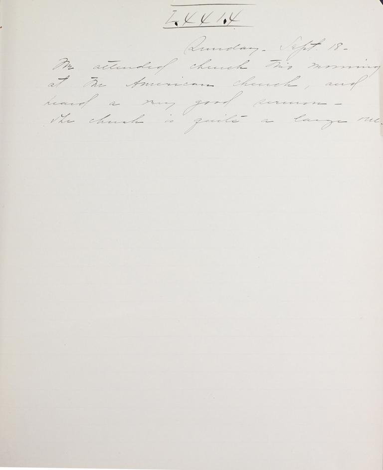 Belle Skinner 1887 Journal 09-18-1887 LXXIX