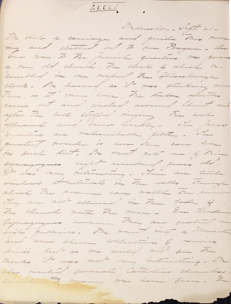 Belle Skinner 1887 Journal 09-21-1887a LXXXI