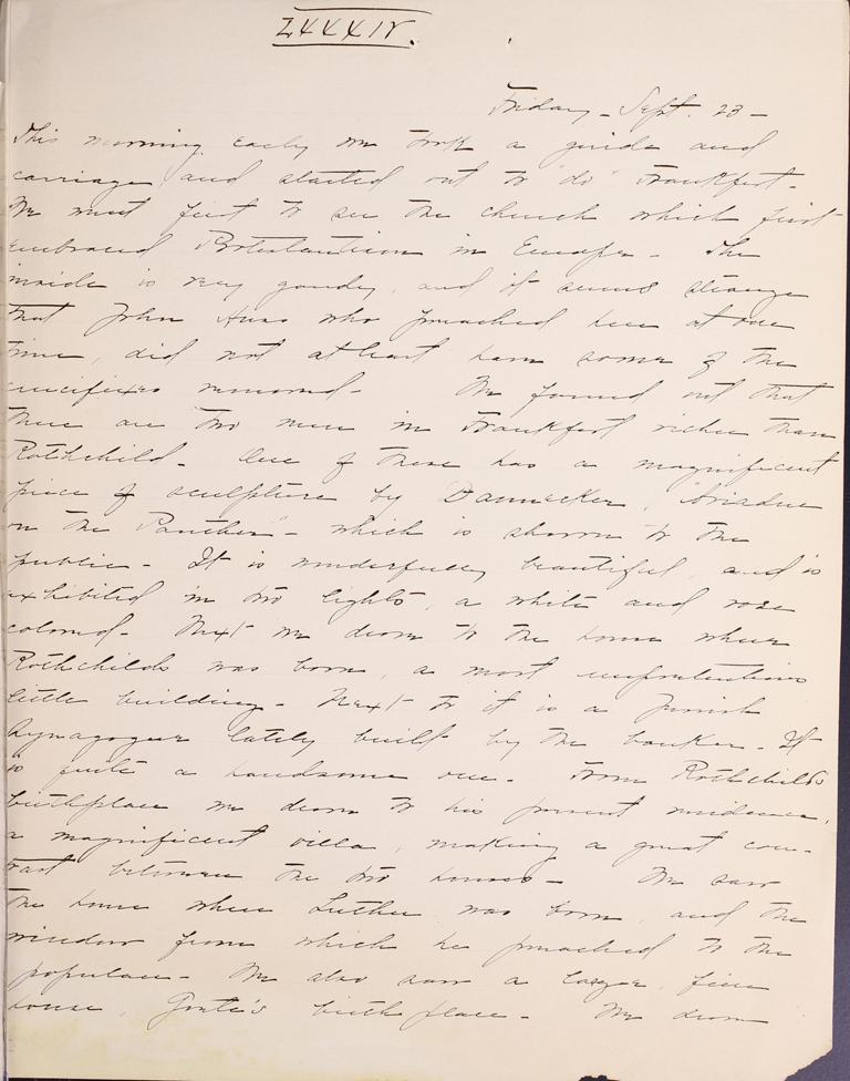 Belle Skinner 1887 Journal 09-23-1887a LXXXIV