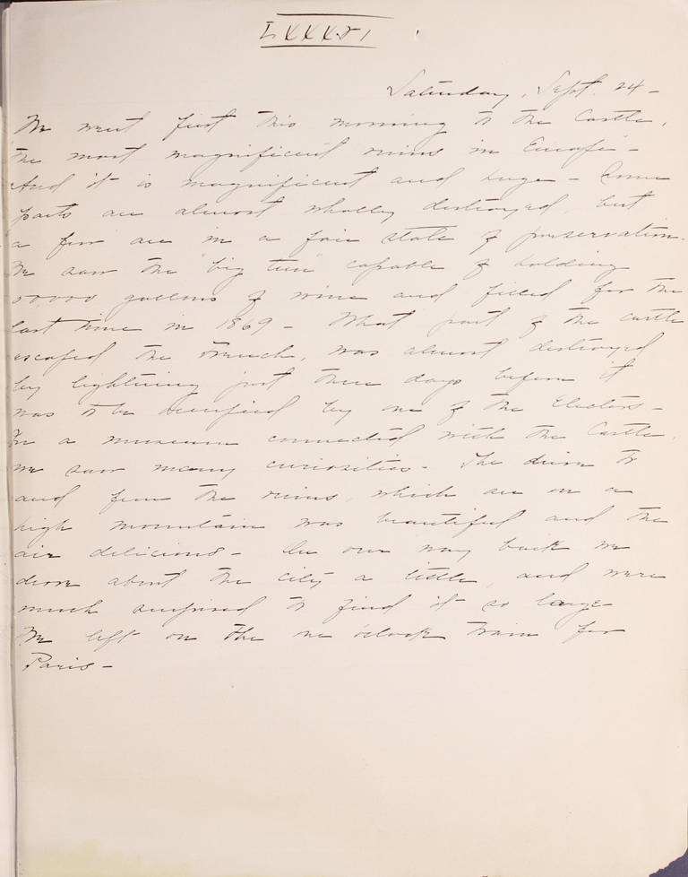 Belle Skinner 1887 Journal 09-24-1887 LXXXVI