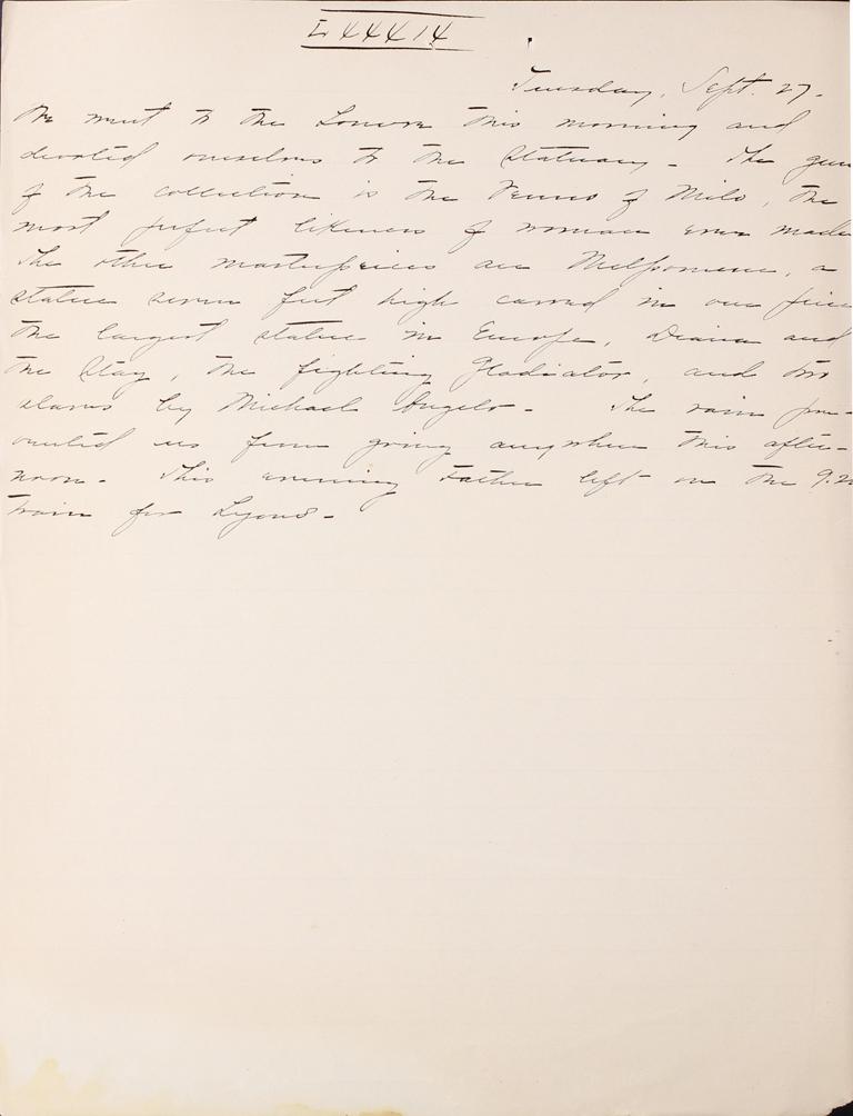 Belle Skinner 1887 Journal 09-27-1887 LXXXIX