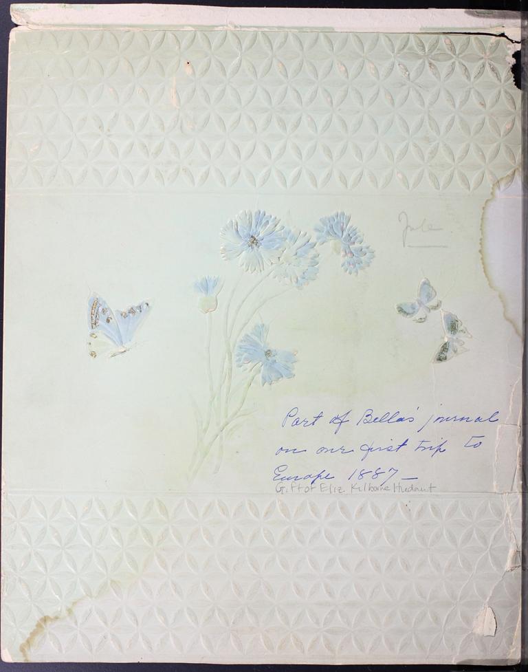 Belle Skinner 1887 Journal Cover