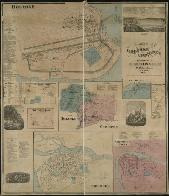 1870 Holyoke Map