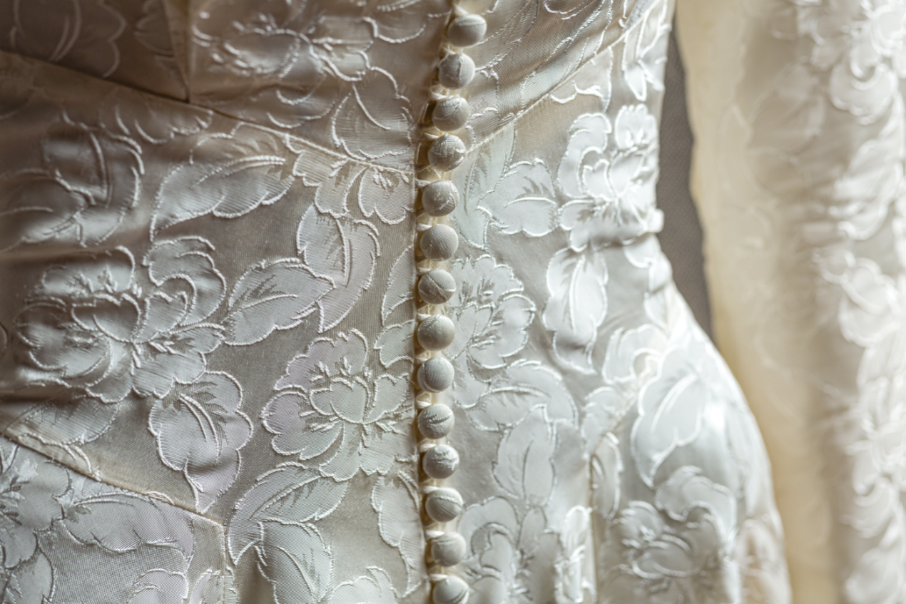 Silk Dress With Wedding Buttons